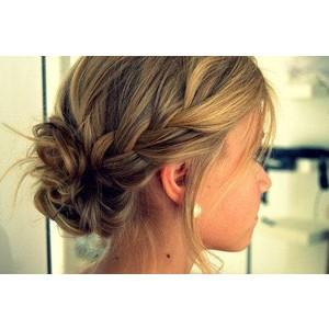 Side Braid Updo Hair Polyvore On We Heart It