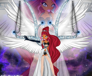 angel, silver, and winx club image