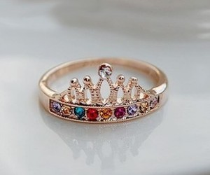 ring, fashion, and gold image