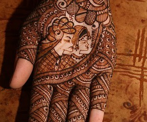 art, henna, and photo image