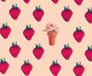 strawberry, background, and wallpaper image