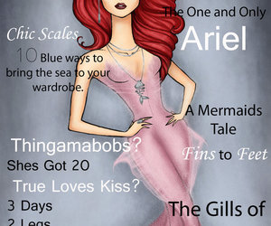 ariel, vogue, and disney image