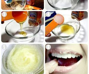 lips, diy, and lip scrub image