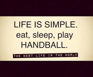 handball, life, and eat image