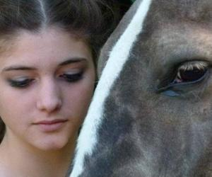 girl, horse, and pasion image