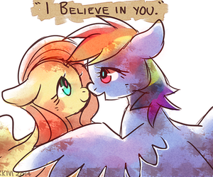 rainbow dash and fluttershy image