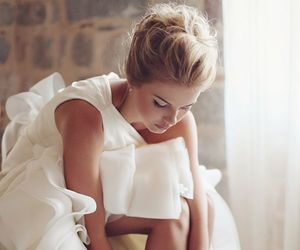 beautiful, wedding dress, and bride image