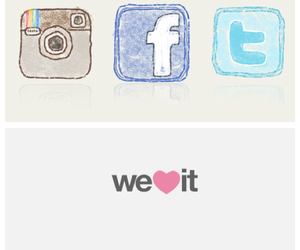 facebook, weheartit, and twitter image