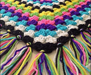 blanket, colors, and crochet image
