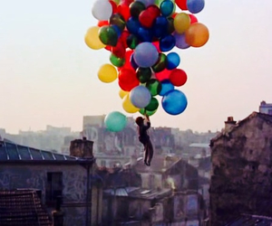 balloons, colors, and love image