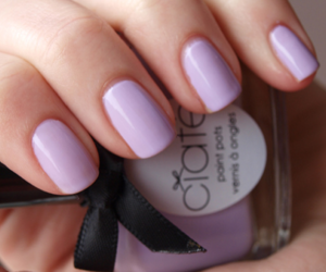 nails, nail polish, and purple image