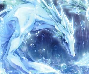 anime, visual novel, and ice dragon image