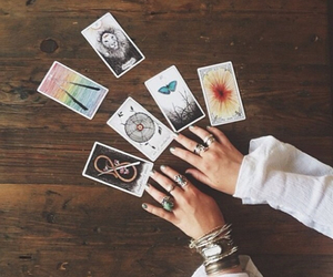 tarot, cards, and hipster image