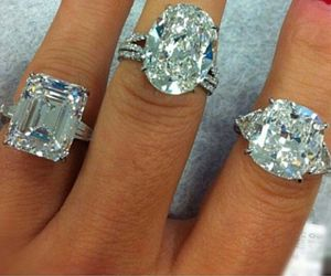 diamond, rings, and love image