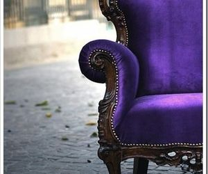 chair, purple, and velvet image