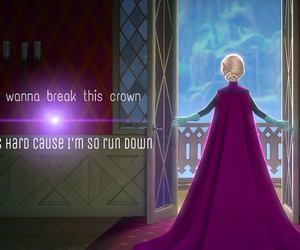 crown, disney, and frozen image