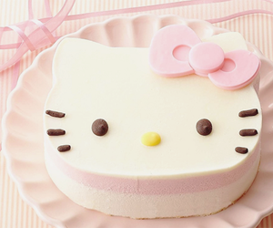 cake, HelloKitty, and pink image