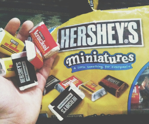 chocolate, miniatures, and heart image