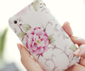 floral, phone, and mobile image