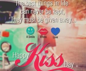 greetings, kiss day, and messages image