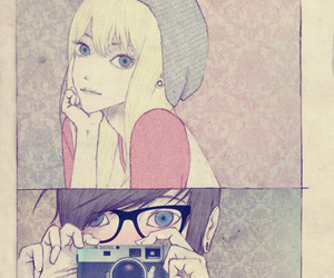 camera, boy, and couple image