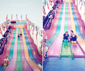 colourful, slide, and couple image