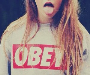 obey, girl, and hair image
