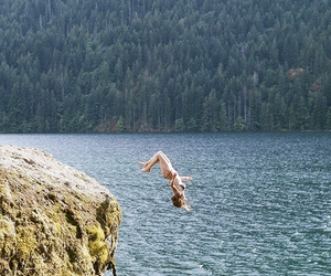 jump, sea, and summer image