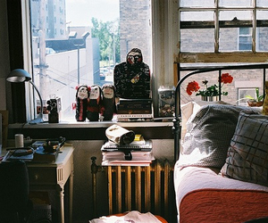 vintage, room, and bed image