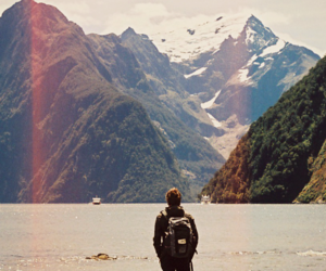 mountains, boy, and nature image