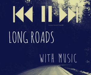 music, road, and long road image