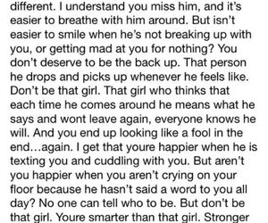that girl, broken hearted quotes, and don't be that girl quotes image