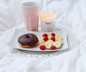 food, donuts, and candle image