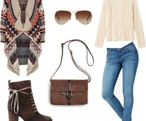 boots, Polyvore, and brown image