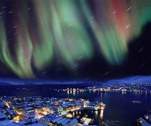 norway, night, and light image