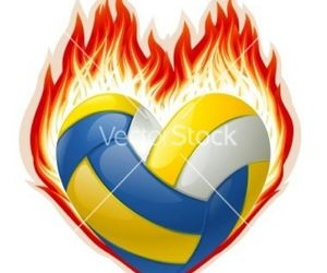 volleyball in the heart image
