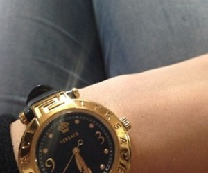 Versace, gold, and black image