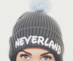 eyes, neverland, and beanie image