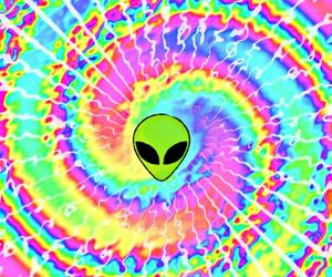 alien, Ovni, and colors image