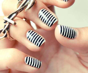 nails, stripped, and fashion image