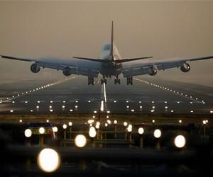 aeroplane, travel, and airport image