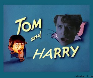 harry potter, funny, and tom and jerry image