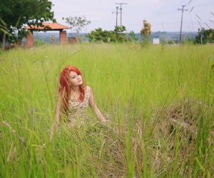 girl, franciely bona, and red hair image