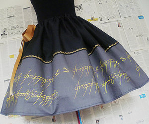 lord of the rings, dress, and LOTR image