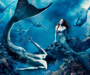 mermaid, disney, and julianne moore image