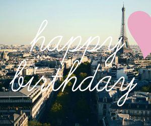 birthday, happy, and paris image
