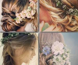 blonde, bridal, and hair style image