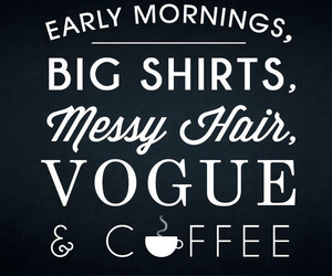 coffee, vogue, and hair image