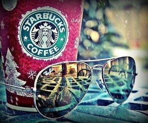 coffee, glasses, and snow image