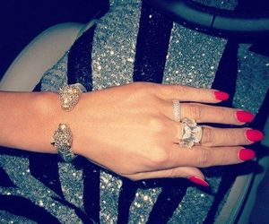 bracelet, diamonds, and nails image
